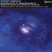 Robert Simpson: String Quartets 14 & 15, Quintet / Vanbrugh Qt