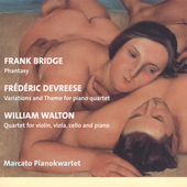 Bridge: Phantasy;  Devreese, Walton / Marcato Pianokwartet