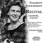 Lieder Recital / Elisabeth Schwarzkopf, Gerald Moore