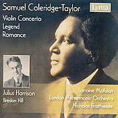 Coleridge-Taylor: Legend, Violin Concerto in G minor, etc