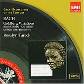 Bach: Goldberg Variations, Italian Concerto, etc / Tureck