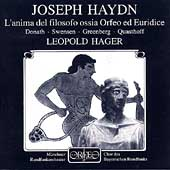 Haydn: Orfeo ed Euridice / Hager, Donath, Swensen, Greenberg