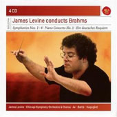James Levine Conducts Brahms - Symphonies 1-4; Piano Concerto no 1; German Requiem / Kathleen Battle; Hakan Hagengard [4 CDs]