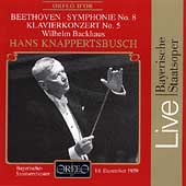 Beethoven: Piano Concerto no 5, Symphony no 8 / Backhaus