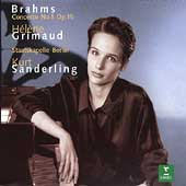 Brahms: Piano Concerto no 1 / Grimaud, Sanderling