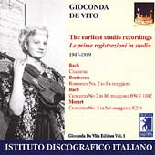 Gioconda De Vito - The First Studio Recordings