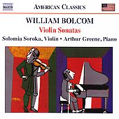 American Classics - Bolcom: Violin Sonatas / Soroka, Greene