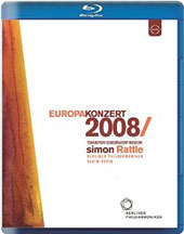 Europakonzert 2008 from Moscow: Stravinsky: Symphony in Three Movements; Bruch: Violin Concerto No.1; Beethoven: Symphony No.7 / Vadim Repin, violin. Rattle [Blu-ray]