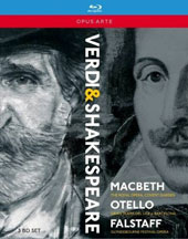 Verdi: The Shakespeare Operas: Macbeth, Otello, Falstaff / Keenlyside, Monastyrska, Aceto, José Cura, Stoyanova, Purves, Christoyannis, Ataneli. Royal Opera House Covent Garden [3 Blu-ray]
