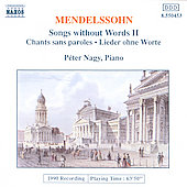 Mendelssohn: Songs Without Words Vol. 2