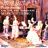 Mozart: Piano Sonatas no 3, 10-11, Variations / Tirimo