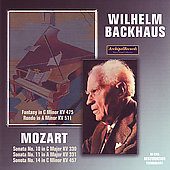 Mozart: Sonatas no 10, 11, 14, etc / Wilhelm Backhaus