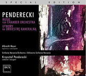 Penderecki: Music for Chamber Orchestra / Mayer, Hauda, et al
