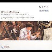 Maderna: Complete Works for Orchestra, Vol. 1