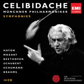 Celibidache conducts Symphonies by Haydn, Mozart, Beethoven, Schubert, Schumann & Brahms