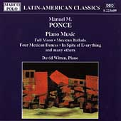 Ponce: Piano Music / David Witten