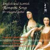 English and Scottish Romantic Songs for Voice and Guitar by Wade, Lee, Bishop, Bayly, Horn, Kelly, Purday et al. / Gudrun Olafsdottir; Javier Jauregui