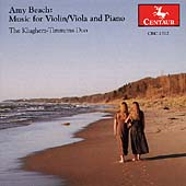 Beach: Music for Violin/Viola & Piano / Klugherz-Timmons Duo