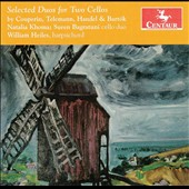 Selected Duos for Two Cellos by Couperin, Telemann, Handel & Bartók / Natalia Khoma & Suren Bagratuni, cello duo; William Heiles, harpsichord