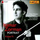Portrait' - Works for Violin & Piano, by Brahms, Schubert, Hindemith et al. / Itamar Zorman, flute; Kwan Yi, piano