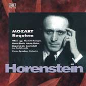 Legends - Mozart: Requiem / Horenstein, Lipp, Weber, et al
