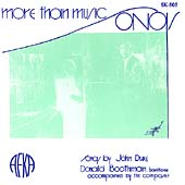 More than Music - Songs by John Duke  / Boothman, Duke