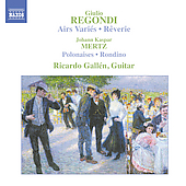 Regondi: Air variés for Guitar, etc;  Mertz / Ricardo Gallén