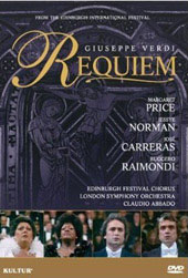 Verdi: Requiem - Carreras/Price/Norman/Raimondi [DVD]