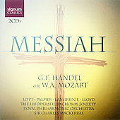 Handel - Mozart: Messiah / Mackerras, Lott, Palmer, Langridge