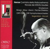 Hans Werner Henze: Cantata della fiaba estrema; Novae de infinito laudes