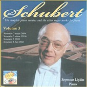 Schubert: The complete piano sonatas and the other major works for piano, Vol. 3 - Sonatas D.894, D.958, D.959, D.960 / Seymour Lipkin, piano