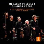 Menahem Pressler - A 90th Birthday Celebration: Live in Paris / Quatuor Ebene