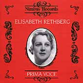 Prima Voce - Elisabeth Rethberg