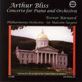 Sir Arthur Bliss: Concerto for Piano & Orchestra / Trevor Barnard, Sir Malcom Sargent, Philharmonia Orchestra
