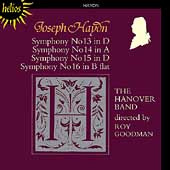Haydn: Symphonies no 13-16 / Roy Goodman, The Hanover Band
