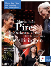 Beethoven: Piano Concerto No. 3; Documentary 'The Breath of the Orchestra' - a portrait of the Orchestra of the 18th Century / Maria Joao Pires (period piano Erard, 1849) [DVD]