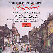 C.P.E. Bach: Magnificat;  J.N. Bach: Missa brevis / Rilling