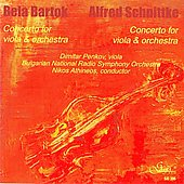 Bart&oacute;k, Schnittke: Viola Concertos / Penkov, Athineos, Bulgarian National Radio Orchestra