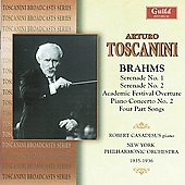 Toscanini conducts Brahms - Serenade no 1 & 2, Piano Concerto no 2, etc