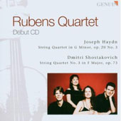 Haydn: String Quartet in G minor; Shostakovich: String Quartet No. 3 in F Major / Rubens Quartet