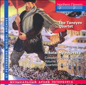 Nikolai Myaskovsky (1881-1950): Complete String Quartets, Vol. 2 - Quartets Nos. 4, 5 & 6 / The Taneyev Quartet