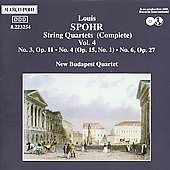 Spohr: String Quartets Vol 4 / New Budapest Quartet