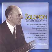 Solomon - Concert Recordings Vol 1 - Live 1952 Recordings