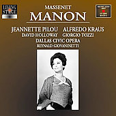 Massenet: Manon / R. Giovaninetti, J. Pilou, A. Kraus, et al