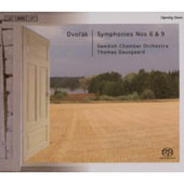 Dvor&#225;k: Symphonies no 6 & 9 / Dausgaard, Swedish CO