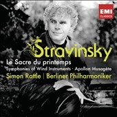 Stravinsky: The Rite of Spring; Apollon Musagète; Symphonies of Wind Intruments / Rattle, Berlin PO
