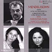 Mendelssohn: Concertos / Karin and Doris Adam, Walter Weller