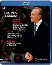 Mozart: Symphony No. 35; Concert Arias; Beethoven: Incidental music to 'Egmont' / Lucerne Festival Orchestra; Claudio Abbado [Blu-Ray]