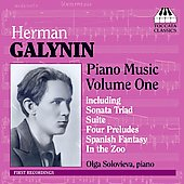 Galynin: Piano Music Vol 1 / Olga Solovieva