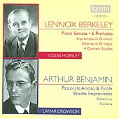 Berkeley, Benjamin: Piano Works / Colin Horsley, Lamar Crowson